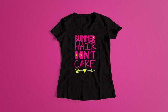 Summer Hair Don't Care T-ShirtSummer Shirt by ShopHKStapleton