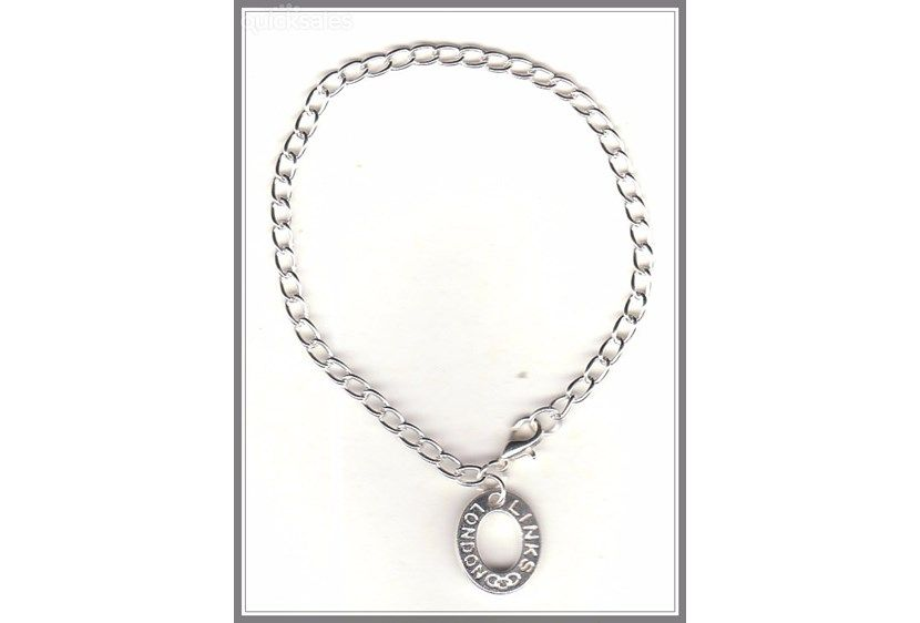 London Links Charm Silver Plated Bracelet/Anklet(18cm)