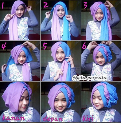 Tutorial Hijab Segi Empat Untuk Pesta Dian Pelangi Tutorial Lif Co Id