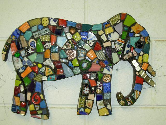 mosaic elephant mosaik weihnachten ostern und elefanten. Black Bedroom Furniture Sets. Home Design Ideas