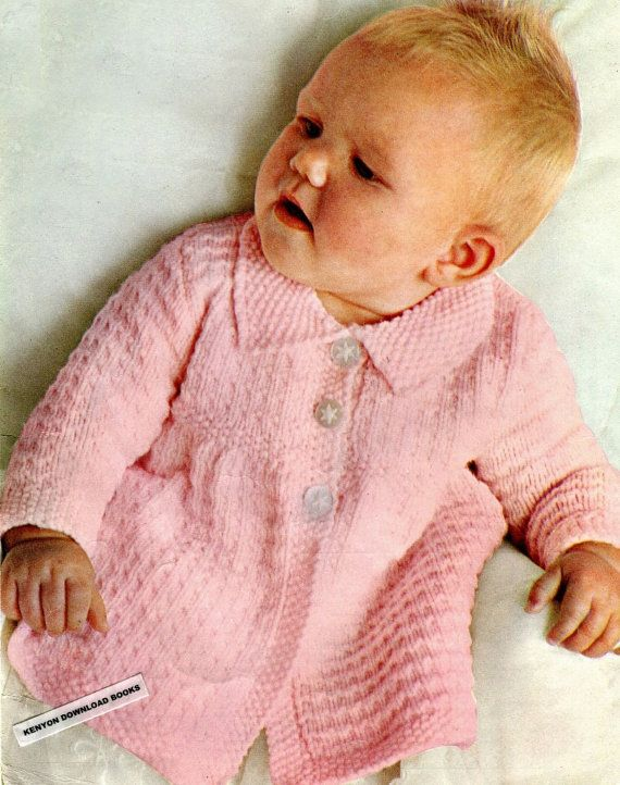 6afdcc9ae279 Pdf BABY S COAT Knitting Pattern Sizes 6 Months to 2 Years - Babies ...