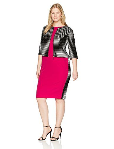 5bdd0e52 New Maya Brooke Maya Brooke Women's Size Striped Colorblock Jacket Dress  Plus. womens dresses [$48.43 - 80.00] from top store proalloffer.tk