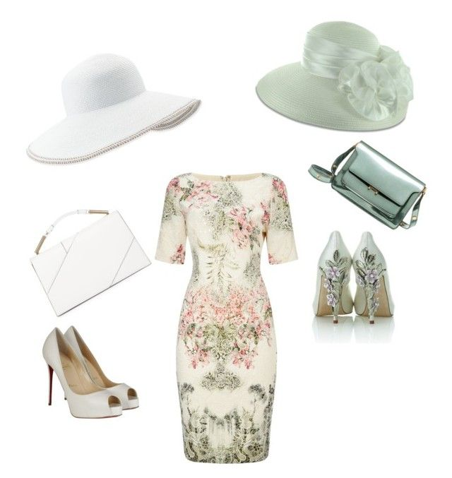 Kentucky Derby by mistyvine69 on Polyvore featuring polyvore moda style Adrianna Papell Christian Louboutin Jason Wu Marni Eric Javits HARRIET WILDE fashion clothing