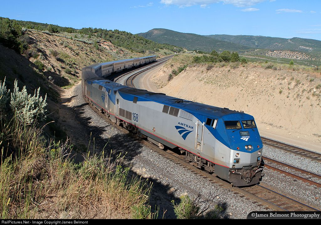 RailPictures.Net Photo: AMTK 168 Amtrak GE P42DC at Gilluly, Utah by James Belmont