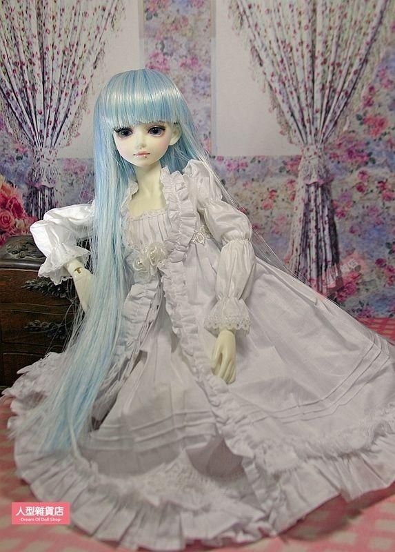 2PC 1/4 MSD DOD MK BJD dress skirt Suit Outfit lolita doll Dollfie LUTS white