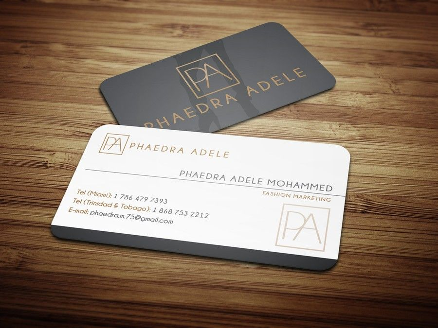 Create an innovative business card illustrating Fashion Marketing by ...