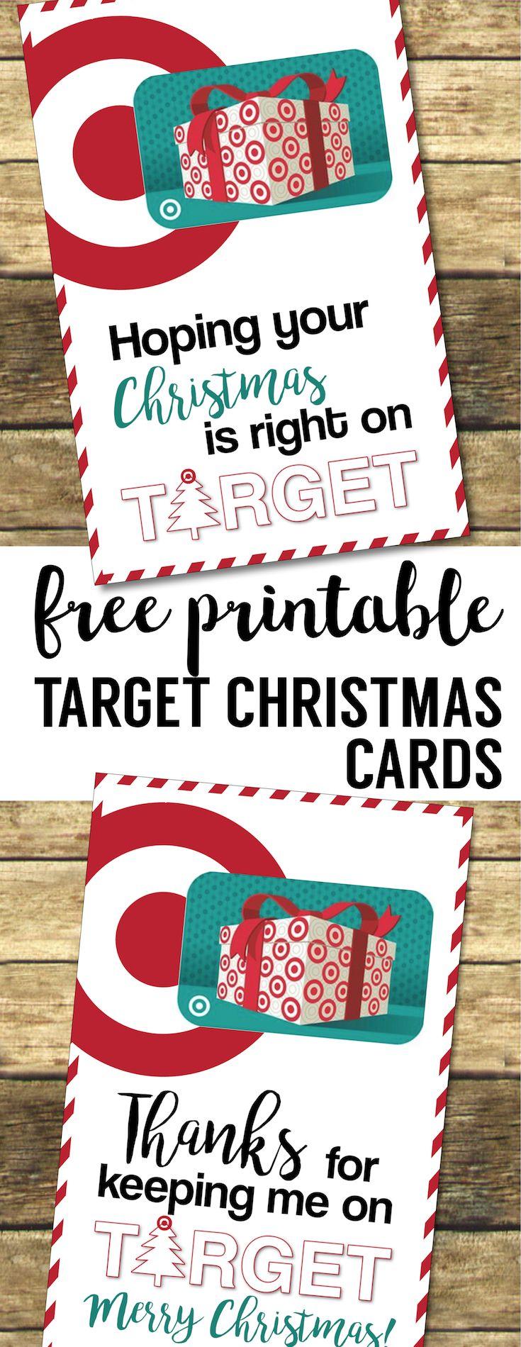 Target Christmas Gift Card Holders {Teachers, Friends ...