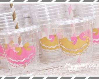 Tutu Birthday Party Set of 8 or 12 You Choose Party Cups