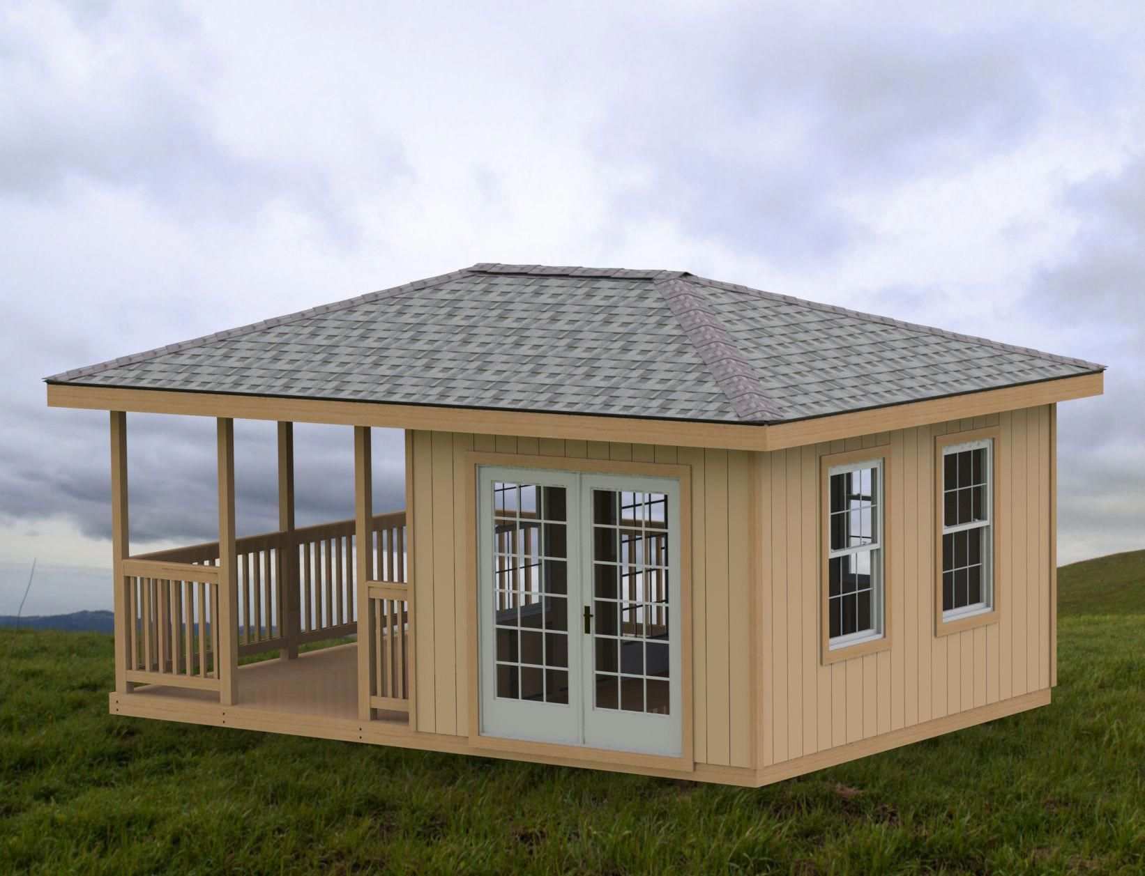 20 X 10 Gazebo Shed Man Cave Downloadable Building Plans Shed Plans Diy Shed Plans 10x12 Shed Plans