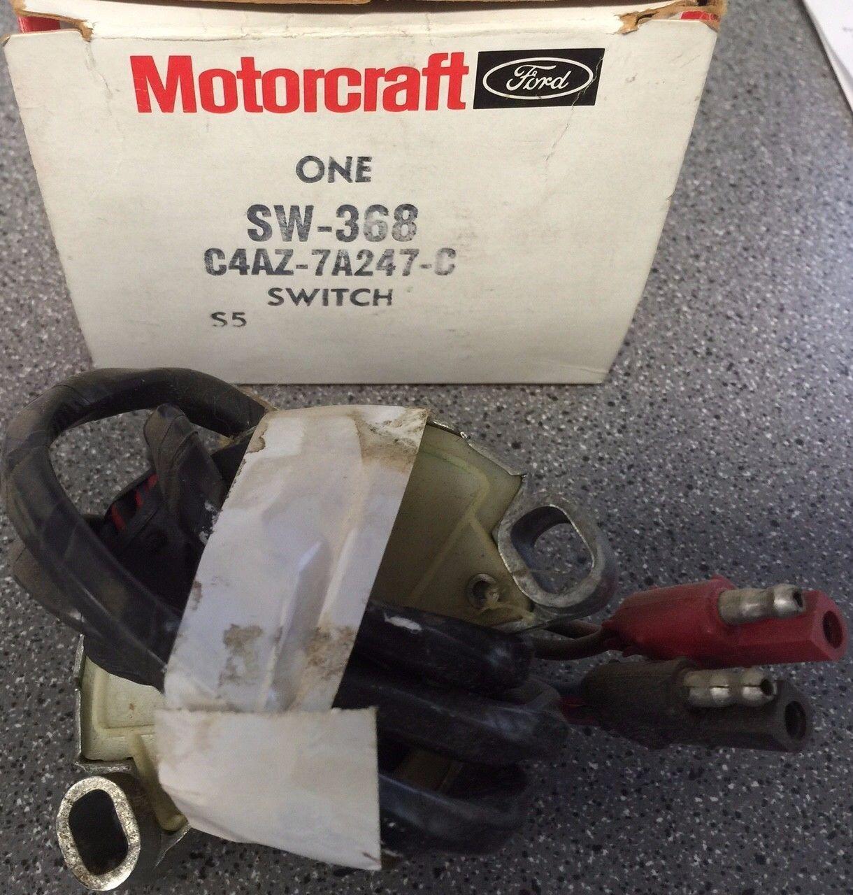 Motorcraft SW 368 Neutral Safety Switch C4AZ 7A247 C