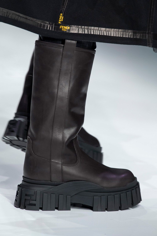 Fendi Fall 2020 Men S Fashion Show Details The Impression Fendi Boots Boots Outfit Men Mens Footwear Trends