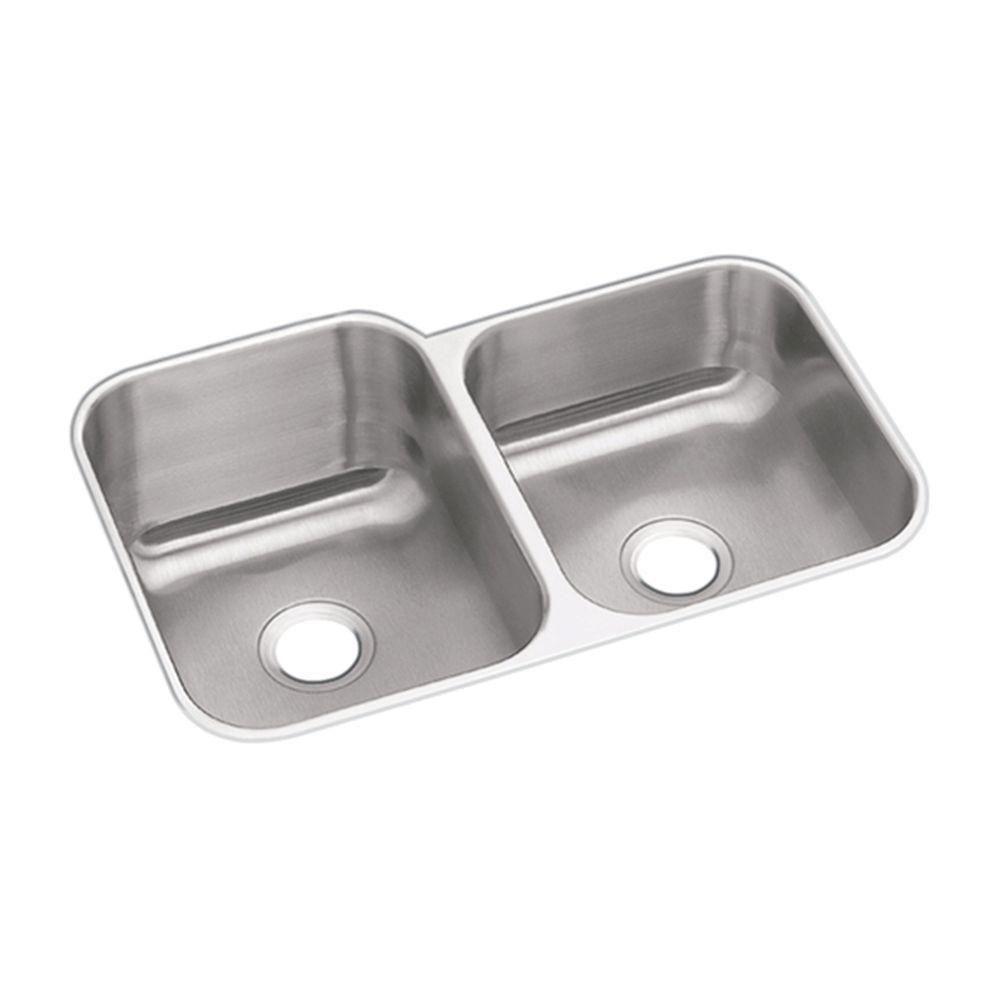 Dayton Undermount Sink Stainless Steel 20-1/2x31-1/4x8 0-Hole Double ...