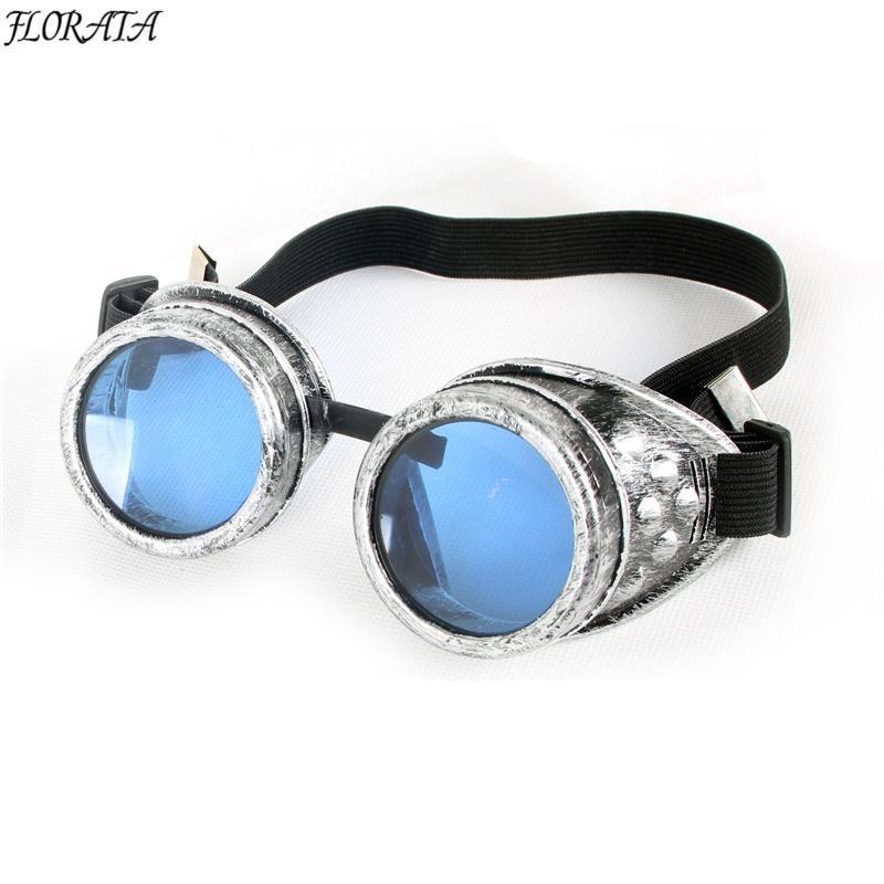 511958618f9 vintage Steampunk 5 color Gothic Retro Style Goggles