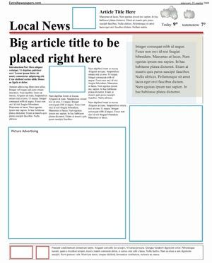 Newspaper Template Pack For Word Perfect For School  For