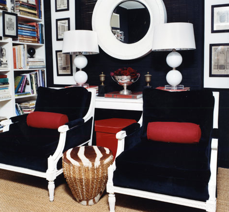 Navy And White Nursery Inspiration Blue Chair