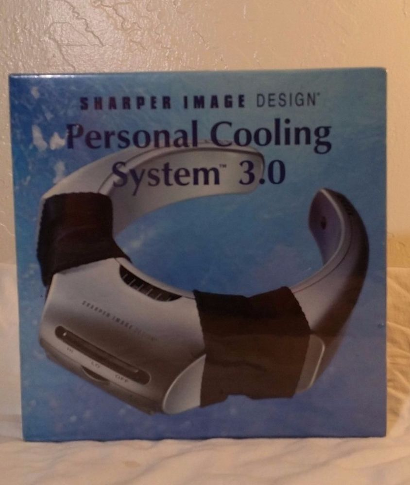 Sharper Image Personal Wearable Evaporative Cooling System 30 Nib