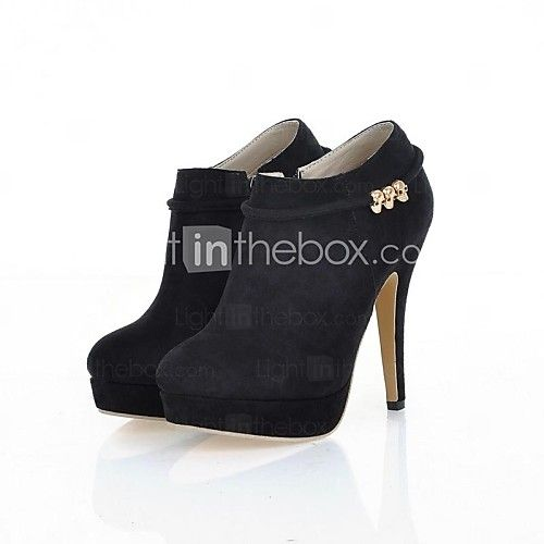 Shoes For Women Round Toe Stiletto Heel Ankle Boots More Colors