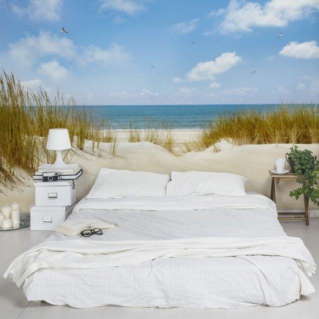 Fototapete Strand an der Nordsee - Strandtapete - Vliestapete - schlafzimmer einrichten 3d