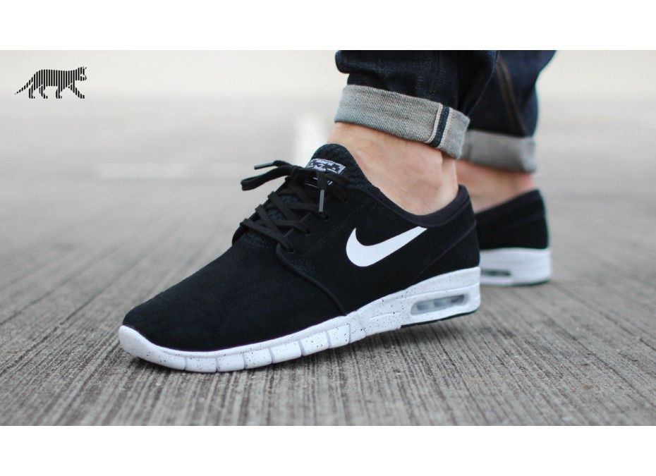 Nike Sb Stefan Janoski Max L Black White Nike Shoes Outlet Nike Heels Nike Stefan Janoski