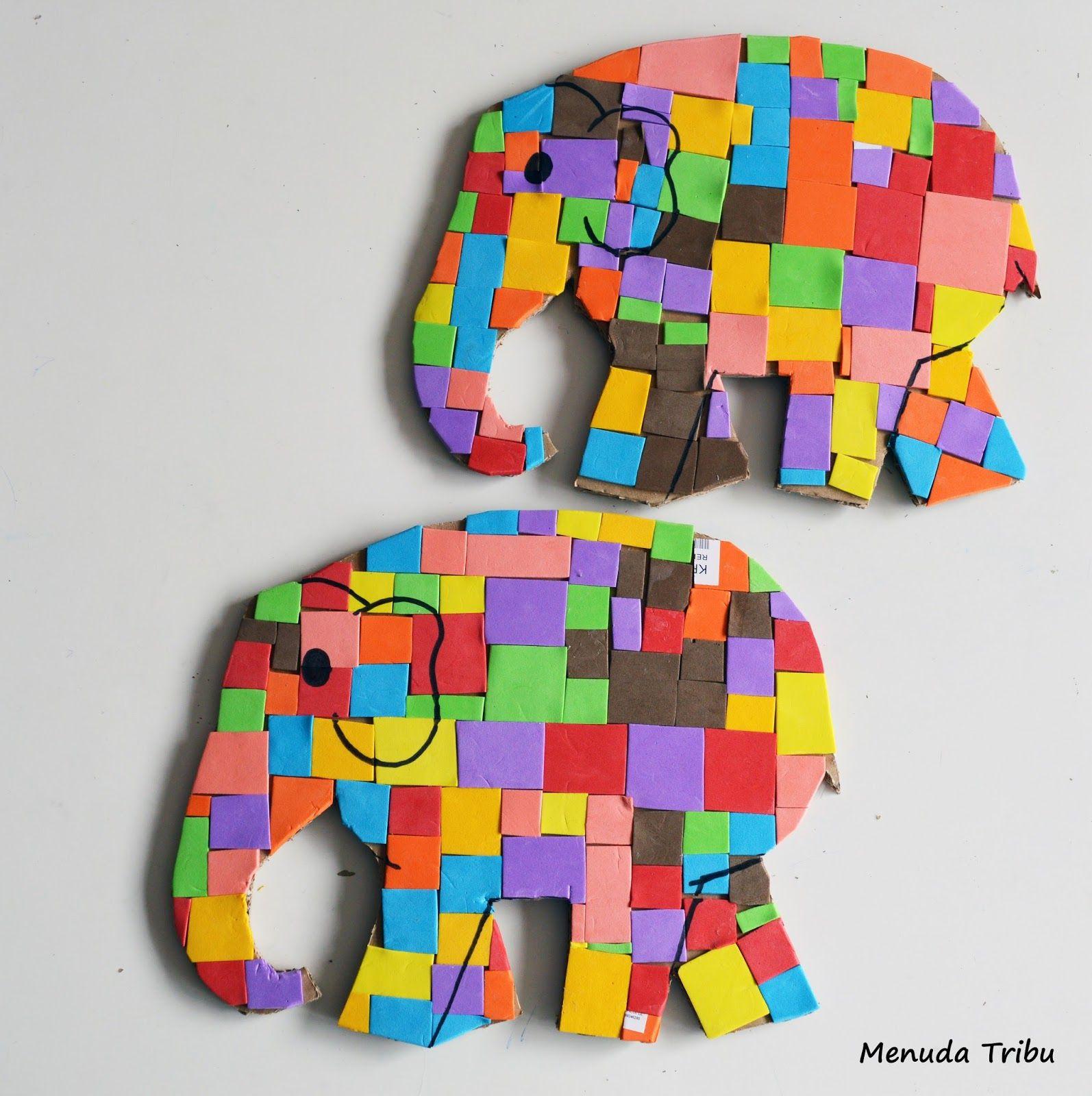 Crea Tu Elefante Elmer Menuda Tribu