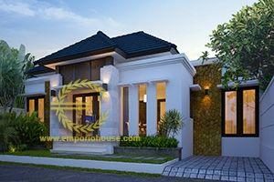 desain rumah 1 lantai 3 kamar lebar 12 m, luas tanah 100