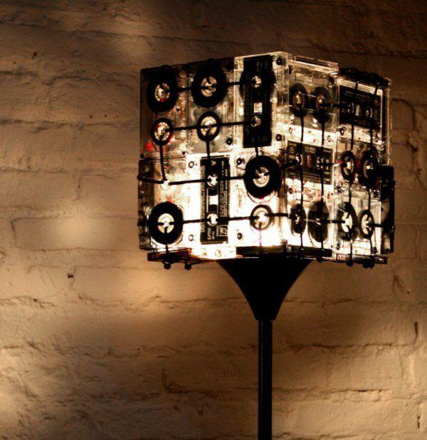 15 Interessante Handgemachte Kassetten Wiederverwendungen Lampenschirm Kassette Zuhause Diy