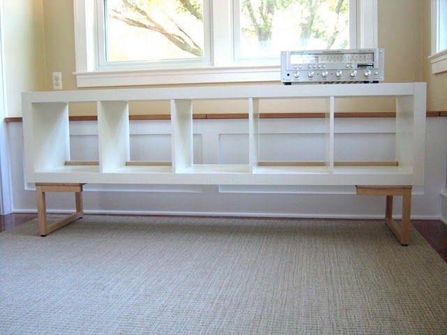 Vinyl lovers storage unit and dj console decoraci n - Cestos para kallax ...