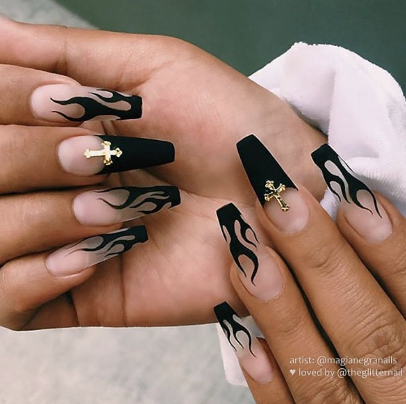50 Spooky Acrylic Nails Perfect For Halloween Nigh