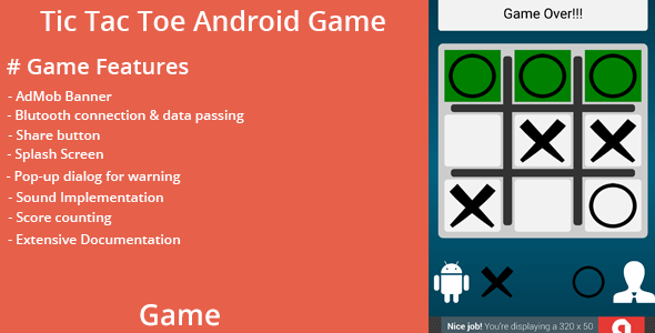 Tic Tac Toe Android Game with Bluetooth Support | Code-Scripts-and