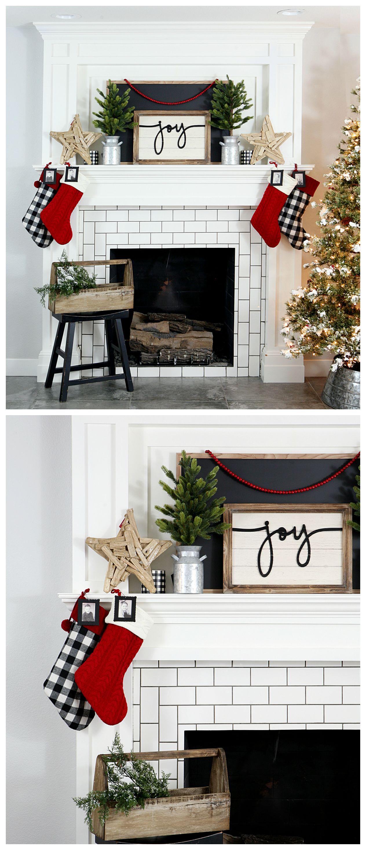 Farmhouse Christmas Mantel | DIY & Crafts | Pinterest | Christmas ...