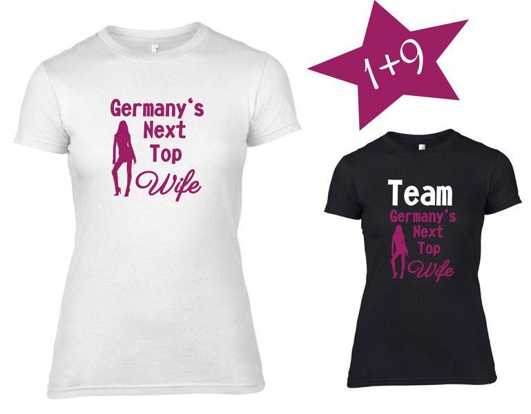 T-Shirt JGA Braut-Team mit Krone Fruit of the Loom Junggesellenabschied