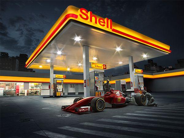 posto shell ferrari on behance creative design