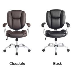 Office Star Dorado Chair With Fixed Padded Arms And Chrome Finish By Products
