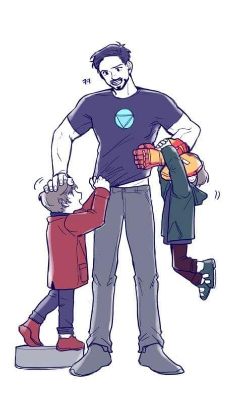 Dad Tony Harley And Peter Marvel Superheroes Marvel Avengers Marvel Characters