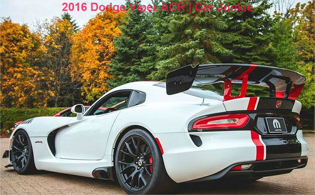 New 2016 Dodge Viper Acr Specs Cost And Performance Car Junkie