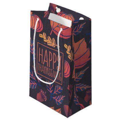 Vintage Design Happy Thanksgiving | Gift Bag - patterns pattern ...