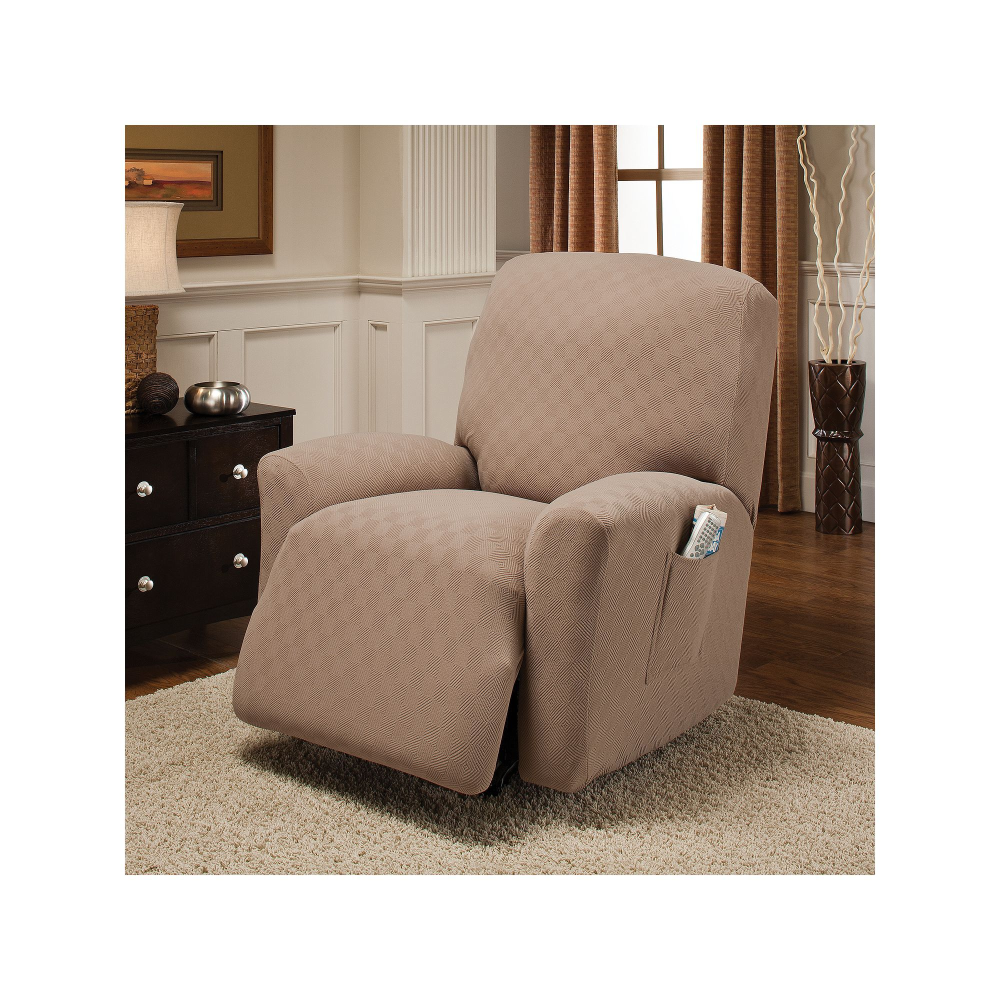 pin for recliners wing solutions blue navy or chair recliner innovative slipcovers textile gingham slipcover