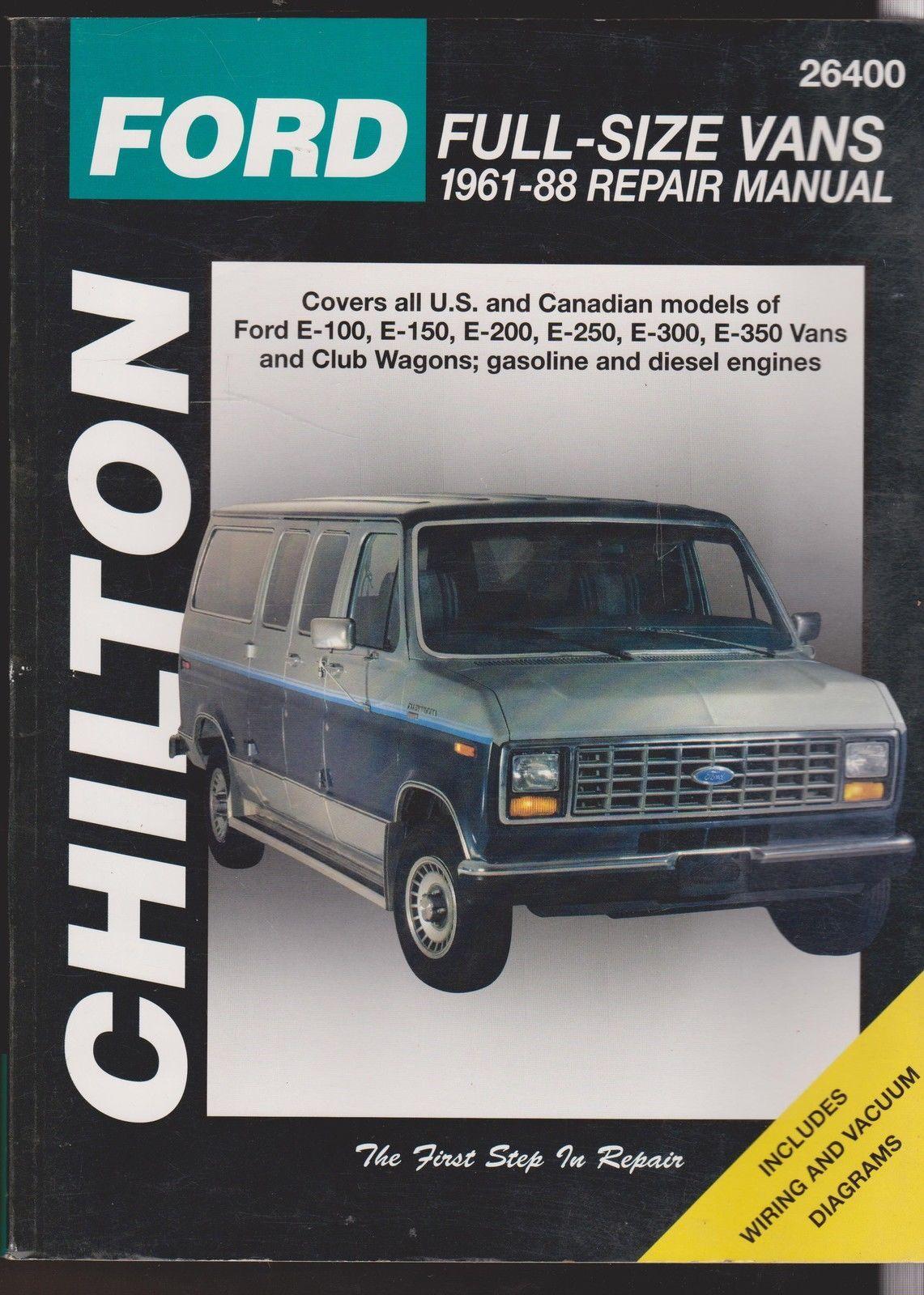 Chilton 1961-1988 Ford Full-Size Vans Repair Manual