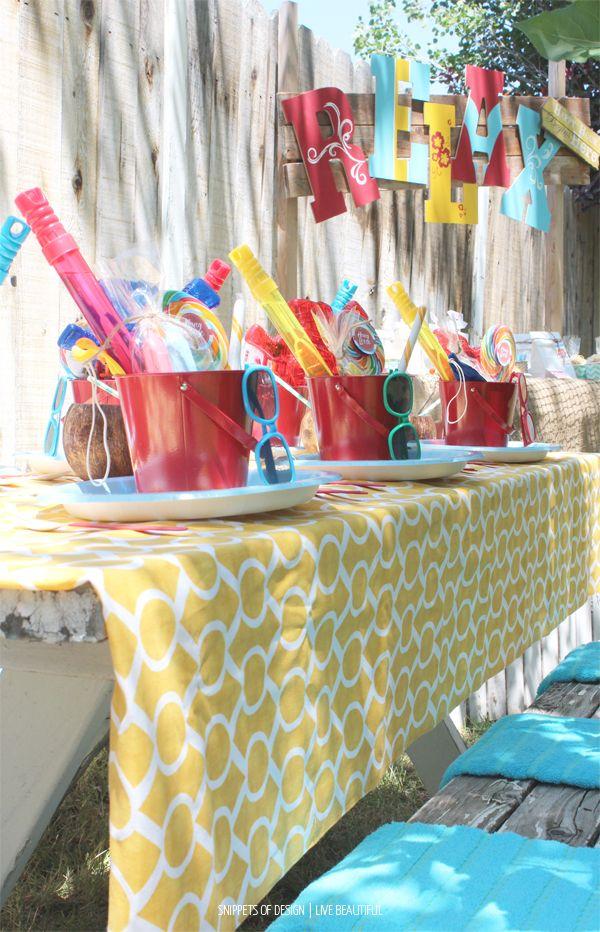 Hang Loose Beach Party Beach Theme Birthday Party Beach