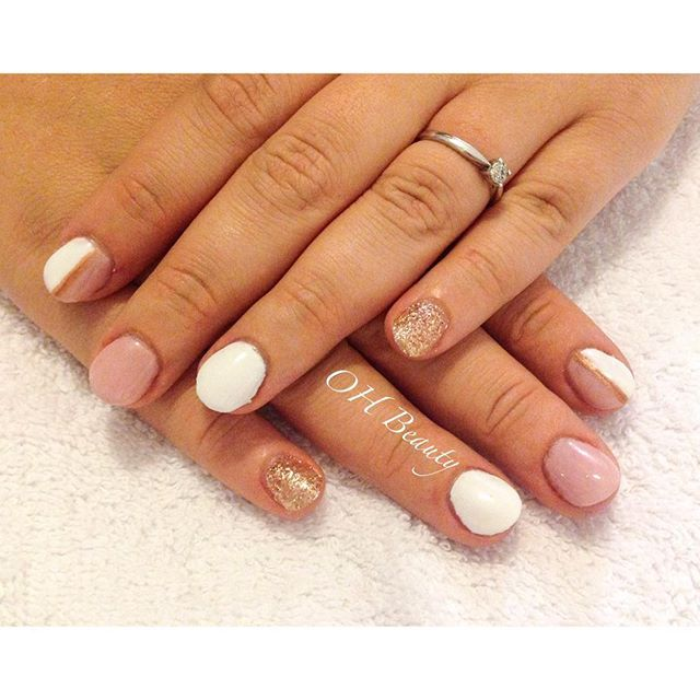 Another short and natural looking gel extensions with a lovely nude/ white and gold colour combination.  Simple yet effective nail art ✨  #ohbeauty #ohmynails #ohmynails #ohbeauty #shrewsbury #nailinspo #nails #nailpolish #nailstagram #nailsdid #nailsdone #gelextensions #nailsoftheday #nailsoftheweek #nailartdesign #nailartaddiction #nailartlove #nails2inspire #gelnails #gelish #shrewsburynails
