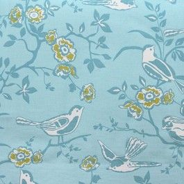 Bramber Teal Blue Drapery Print By Charles Parsons Interiors