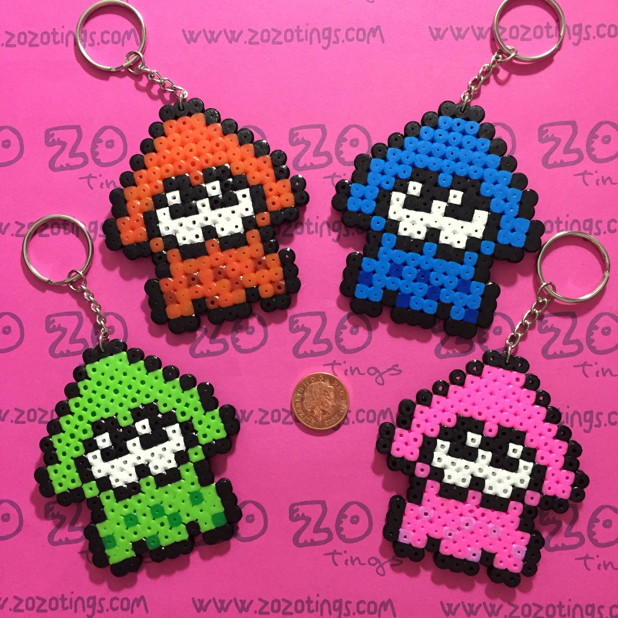 Splatoon Keyrings Hama Beads By Zo Zo Tings Hama Beads