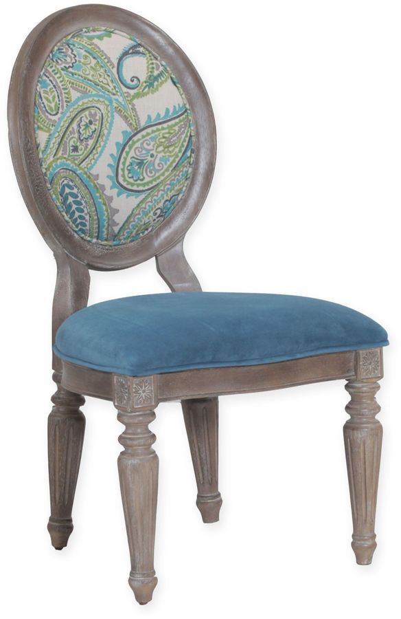 Powell Verona Paisley Chairs in Oak (Set of 2)