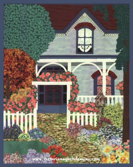 My English Garden Quilt Pattern The quilt pattern is available exclusively through my site here: http://www.victorianaquiltdesigns.com/VictorianaQuilters/PatternPage/MyEnglishGarden/MyEnglishGarden.htm A great quilt to play with those flower and garden fabrics! #quilting #garden