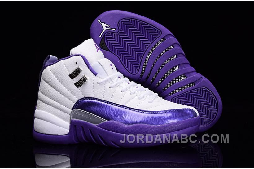 Girls Air Jordans 12 Kings Purple White Best Online Price 8600  Air  Jordan Shoes New Jordans