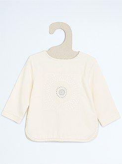 Camisetas - Camiseta estilo baby con bordados - Kiabi