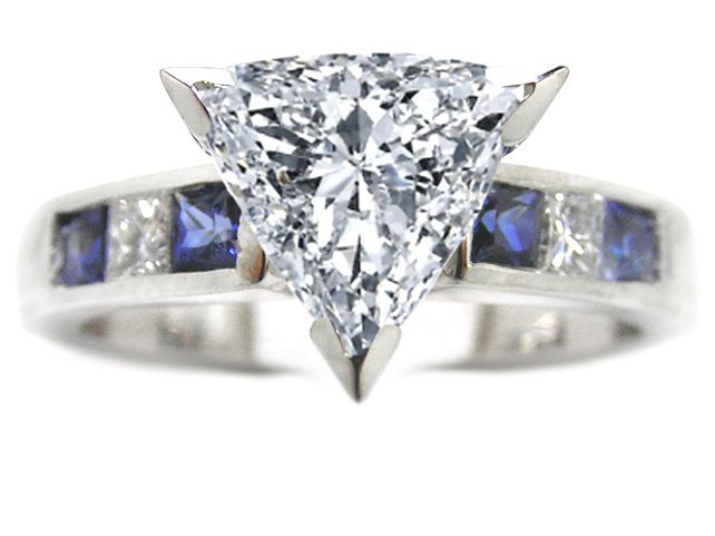 Trillion Cut Diamond Wedding Sets | Engagement Ring ...