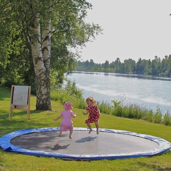 Creative idea for children... Get a trampoline in the ground and dig a hole under neath