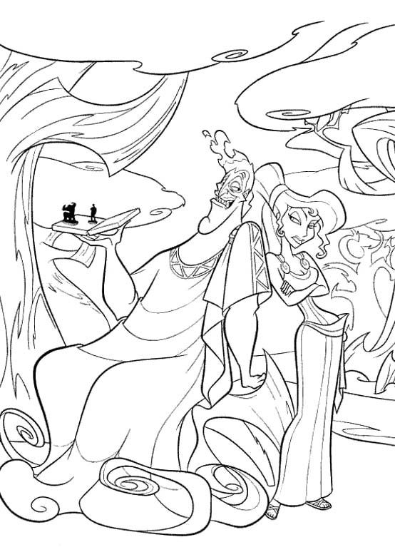 Pictures Of Hades And Megara Coloring Pages Hercules Coloring