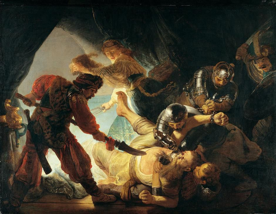 Rembrandt Harmensz Van Rijn The Blinding Of Samson Rembrandt Rembrandt Schilderijen Schilderij